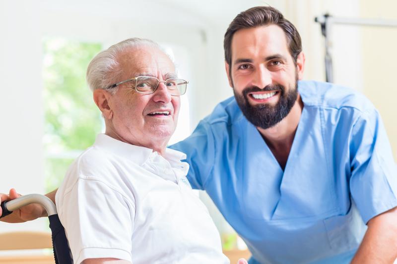 Nursing Assistant & Resident Smiling